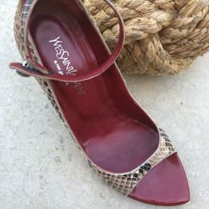 5542040ece2 Yves Saint Laurent Shoes - Iconic Tom Ford/ Yves Saint Laurent python wedges